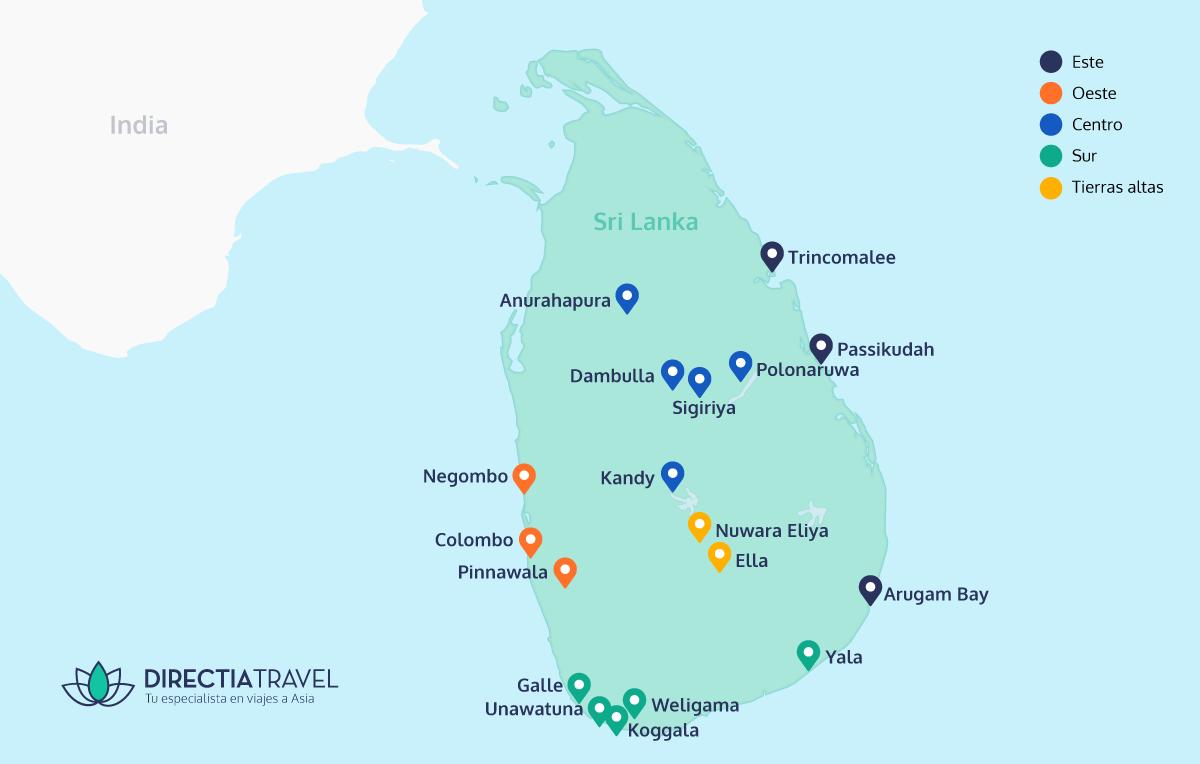 Mapa De Sri Lanka.Que Ver Y Que Hacer En Sri Lanka 2019 Directia Travel